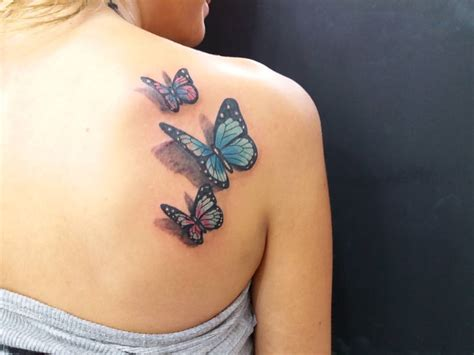 butterfly tattoo color meaning 3d butterfly tattoo on shoulder www imgkid com the