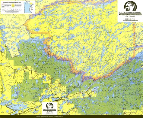 boundary waters map bwca trip planning canoe routes maps entry points