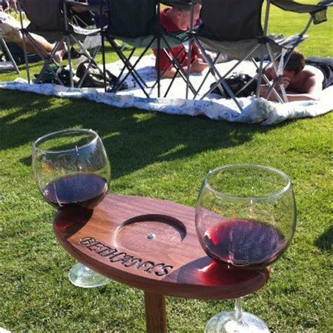definitely a diy project portable outdoor wine table and