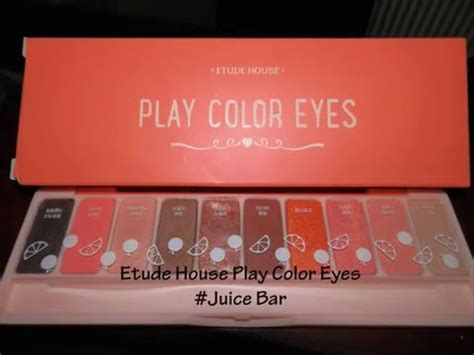 Etude Palsu swatches of 에뛰드하우스 etude house play color juice bar palette juliana andrea