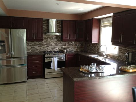 inspirational dark brown hardwood kitchen cabinetry sets