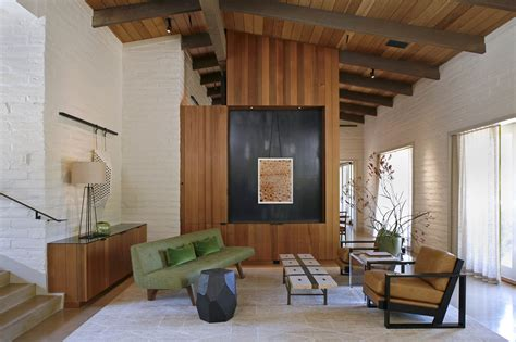 mid century modern home renovation with new rooms addition mid century modern renovation living room stephen
