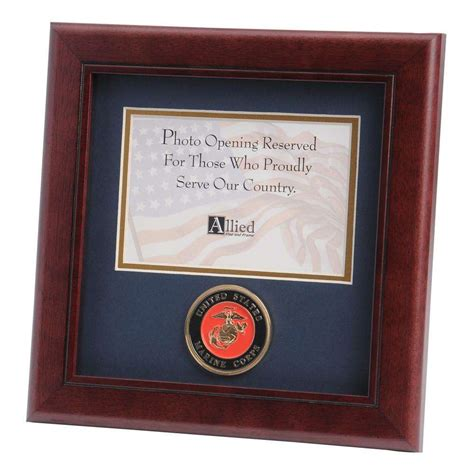 4 Inch Picture Frame by U S Marine Corps Medallion 4 Inch By 6 Inch Landscape