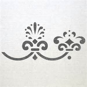 Wall Stencil Template by Wall Baroque Border Stencils 003 Pattern Reusable Template