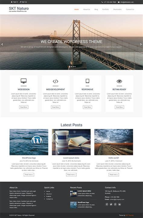 60 best responsive free wordpress themes with slider