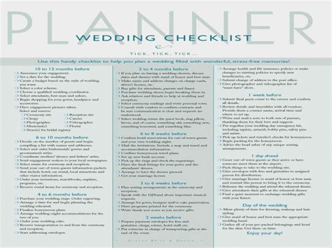 Why You Should Not Go To Printable Checklist For Wedding