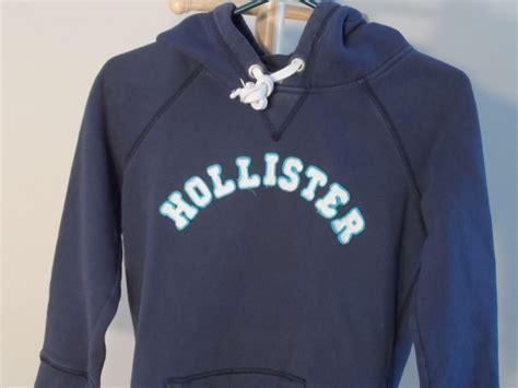 Jaket Hoodie Sweater Nicce Navy hollister s m medium navy blue hoodie jacket white lettering ebay