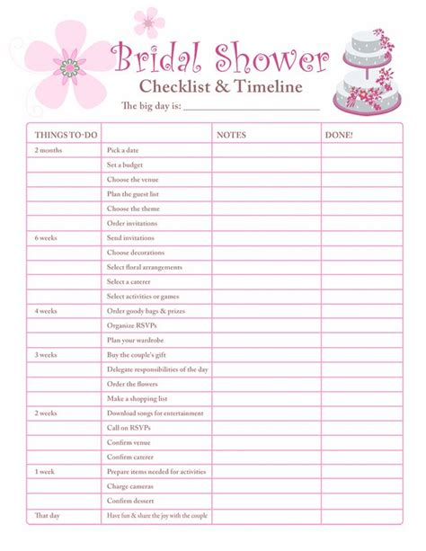 How To Plan An Inexpensive Baby Shower by 10 Best Ideas About Bridal Shower Checklist On