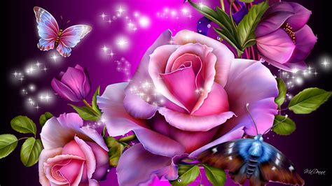 and butterfly purple roses and butterflies wallpapers and images wallpapers pictures photos