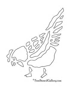 chicken stencil template chicken stencil 2 free stencil gallery