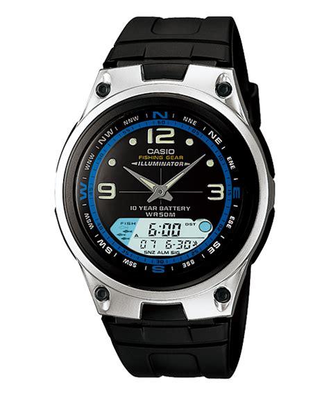 Casio Aw 82d 1av Original jam tangan pria casio pelengkap alat mancing arlojinesia