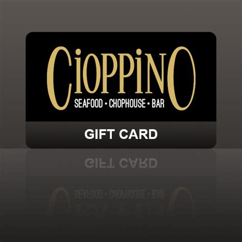 Cigar Gift Card - cioppino gift card cioppino restaurant cigar bar