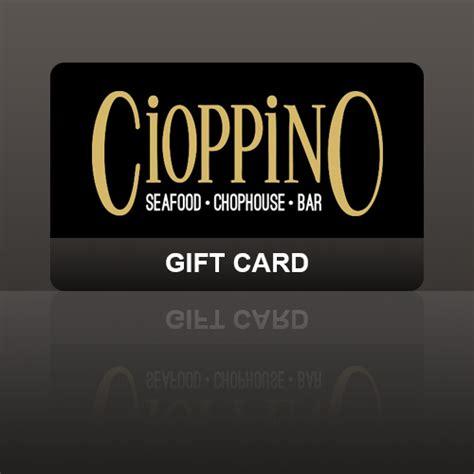 cioppino gift card cioppino restaurant cigar bar - Pittsburgh Restaurant Gift Cards