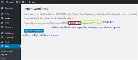 wordpress tutorial upload file upload file and import wordpress support wordpress