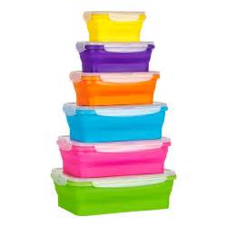 flat stacks silicone collapsible food storage kitchen