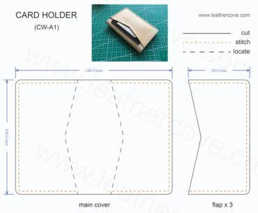 Folding Wallet Card Template by Best 25 Leather Wallet Pattern Ideas On