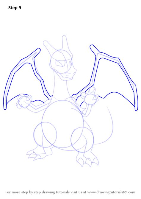 Charizard Z Drawing by Learn How To Draw Charizard From Step By
