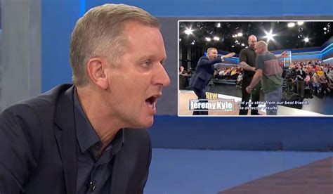 jeremy kyle raging  security  guest lunges   host