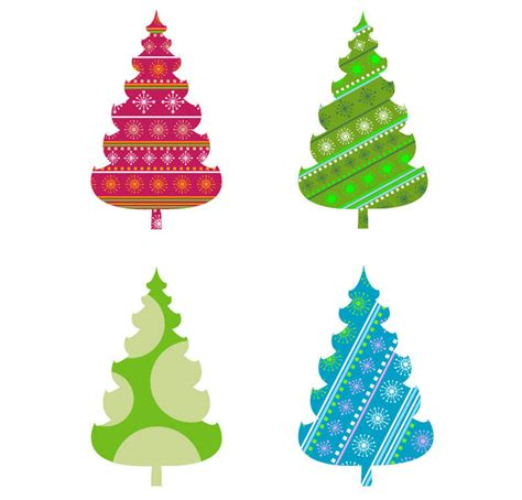 abstract christmas tree vector graphics free vector