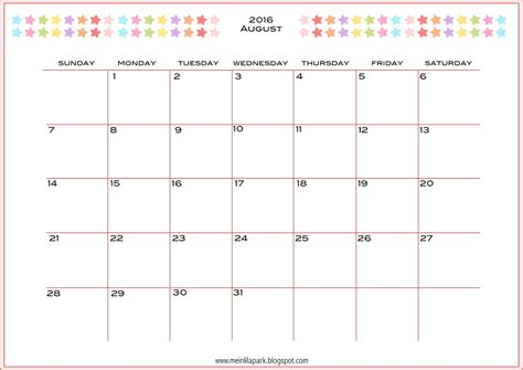 printable monthly planner calendar part
