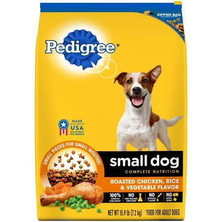 pedigree small dog adult complete nutrition roasted