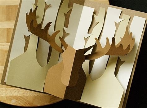 cool pop up card templates moose easycutpopup ebooks arts and crafts