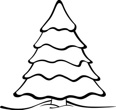 Clipart Outline by Tree Outline Clipartion