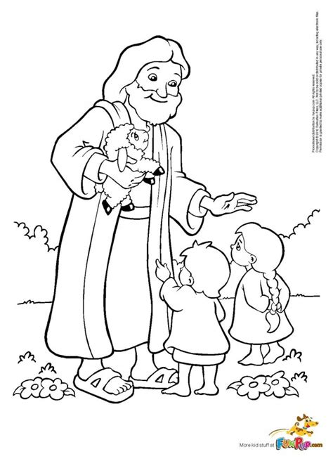 jesus loves the little children coloring page az