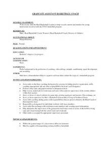 youth basketball coach resume student resume template