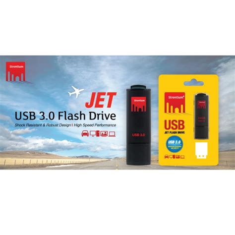 Strontium Jet Usb Flash Drive Usb 30 16gb Sr16gbbjet Black 1 strontium jet usb flash drive usb 3 0 32gb sr32gbbjet black jakartanotebook