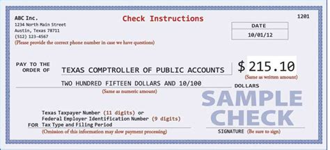 exle of written check proper check writing procedures for tax payments