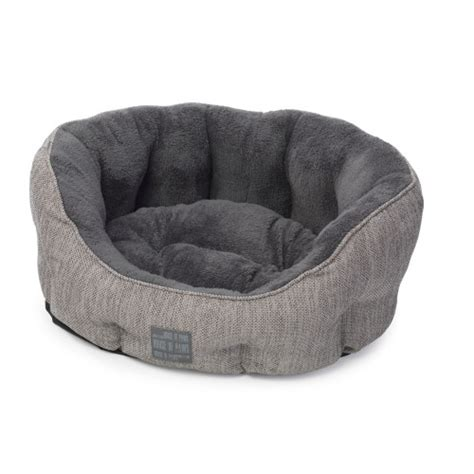 house of paws dog beds house of paws grey hessian dog bed from 163 39 99 waitrose pet