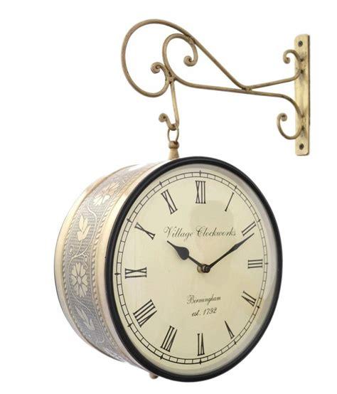 jordaar glossy double sided railway brass wall clock 10 inch buy jordaar glossy double sided