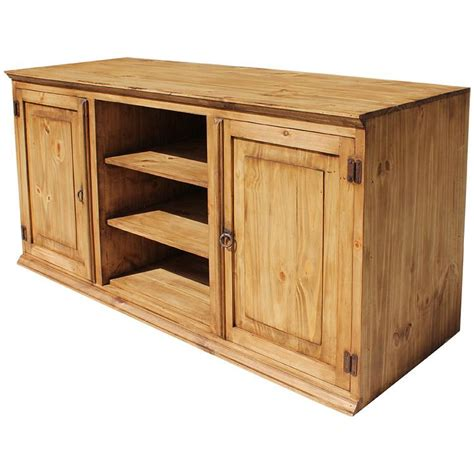 rustic pine collection tecate tv stand com315