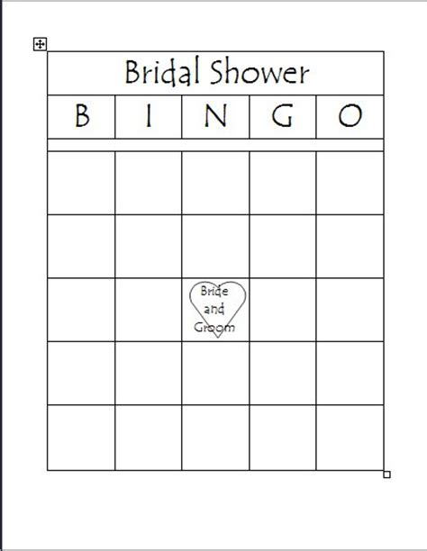Blank Bingo Card Template For Bridal Shower by Bridal Shower Bingo Printable Search Results Calendar 2015