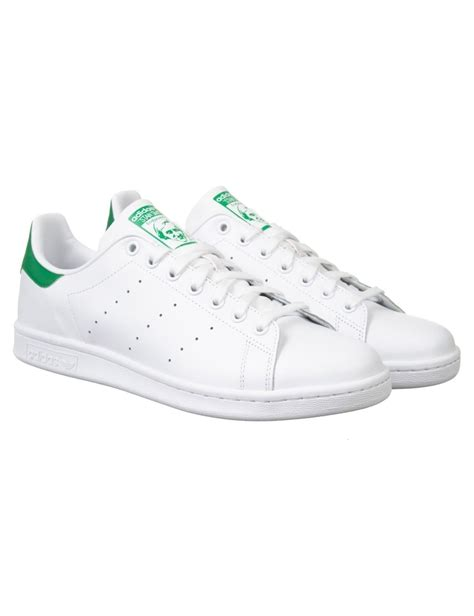 adidas originals stan smith shoes white green footwear from buddha store uk