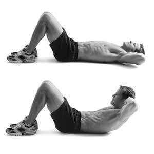 upper body crunches    ab exercise popworkouts