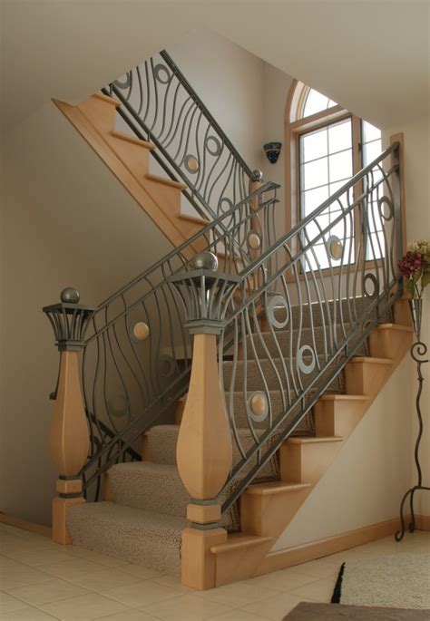 contemporary banister rails home interior decorating modern homes iron stairs railing