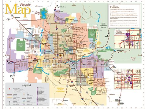 map of arizona and surrounding areas area map cities