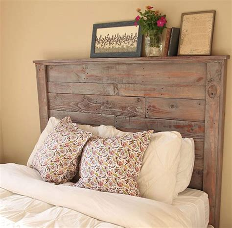 diy rustic pallet headboard diy ready