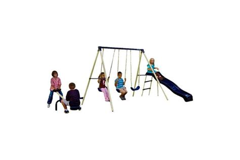 flexible flyer triple fun swing set flexible flyer triple fun swing set with slide 3 swings