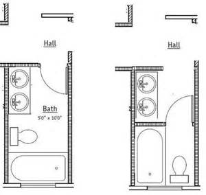 5 x 10 bathroom floor plans comments needed 5x10 shared bath which option