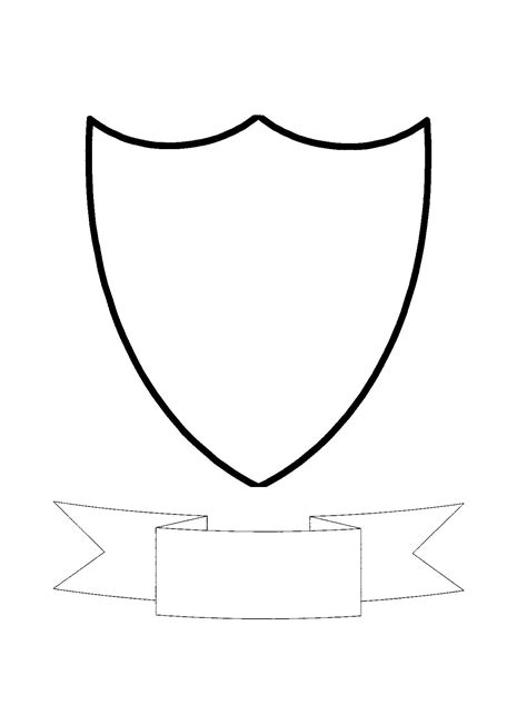 crest shield template blank crest template cliparts co