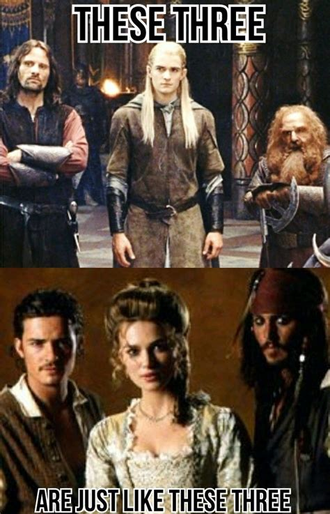 orlando bloom jack sparrow will turner as legolas because there both played by