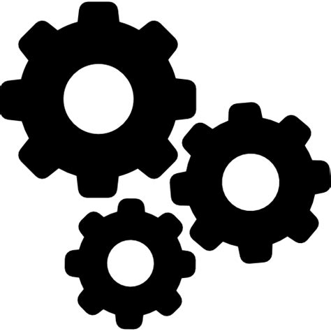 Settings gears - Free interface icons