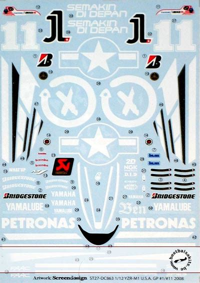 1 12 Yzr M1 11 Lorenzo Spies Decal Nicolecron Decals bestbalsakits mg model mytho mania tabu design top studio imai nichimo plastic resin scale car