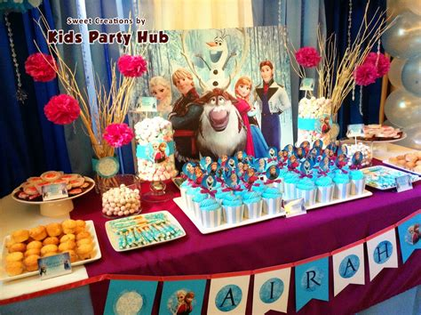 frozen themed party venue kids party hub disney frozen themed party airah s 7th