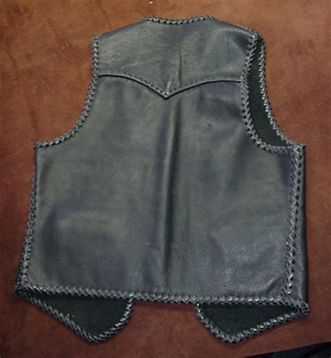 Handmade Leather Vest - leather vests made in the usa with heavy grain