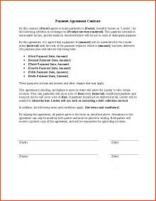 Free Payment Contract Template by Payment Agreement Contract Proposalsheet