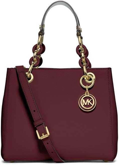 Michael Kors Small Satchel Luggage Ori michael michael kors cynthia small south satchel bag merlot diy michael